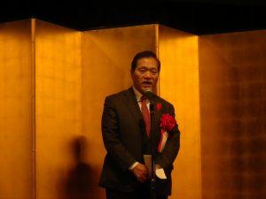 井上県議会議長乾杯挨拶